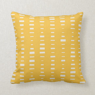Solar Yellow Block Stripe Pillow