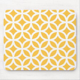 Solar Yellow Geometric Mouse Pad