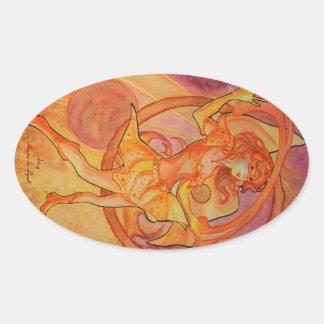 Solaris de flambage sticker ovale