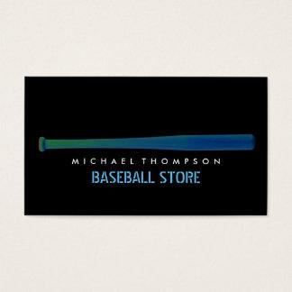 Solarize Effect Baseball Bat, Baseball Business Card