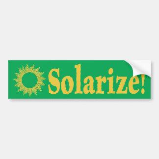 Solarize! Solar Energy Bumper Sticker
