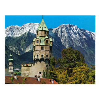 Solbad Hall, Tyrol, Austria, Castle and mountains Postcard