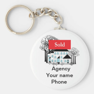 Sold Real Estate Promote Your Business Keychain