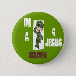 Soldier 4 Jesus 2 Inch Round Button