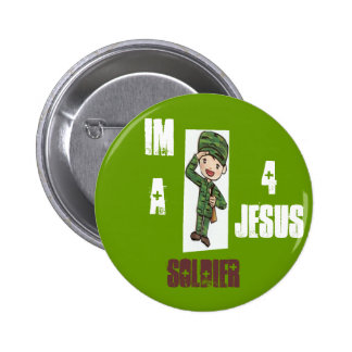 Soldier 4 Jesus 2 Inch Round Button