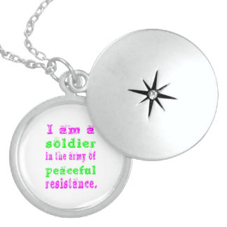 Soldier Army of Peaceful Resistance Sterling Silver Necklace