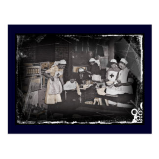 Soldier Child Nurses at First Aid Station Postcard