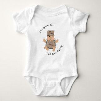 Soldier daddy baby bodysuit