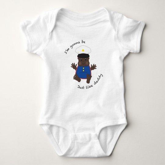 Soldier daddy - dressy baby bodysuit
