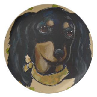 Soldier  Doxie Dinner Plates