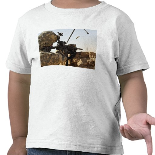 soldier engages enemy forces t-shirts