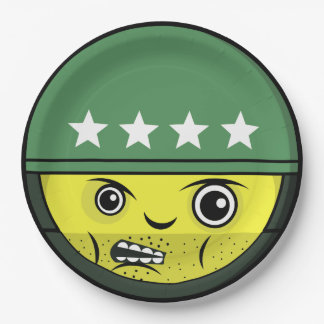 Soldier Face Paper Plate