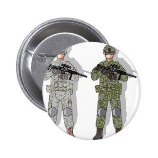 Soldier Full Gear 2 Inch Round Button