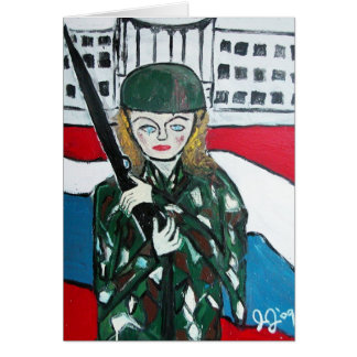 Soldier Girl Card