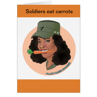 Soldier girl greeting card
