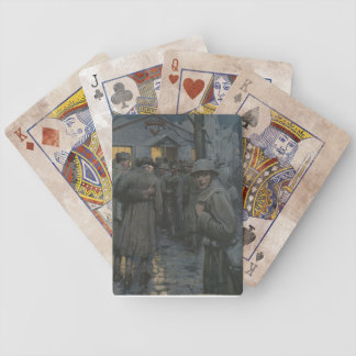 Soldier Glances Back Bicycle Playing Cards