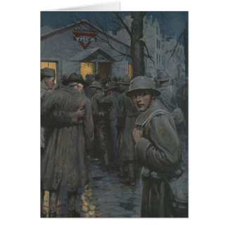 Soldier Glances Back Card