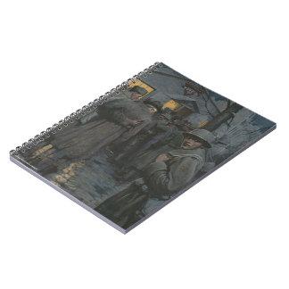 Soldier Glances Back Spiral Notebook