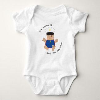 Soldier grandma - dressy baby bodysuit