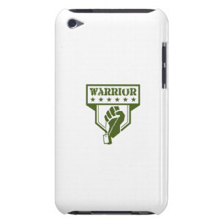 Soldier Hand Clutching Dogtag Warrior Crest Retro iPod Case-Mate Cases