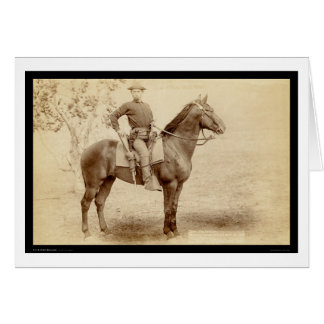 Soldier & Horse at Camp Cheyenne SD 1890 Card