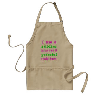Soldier in Army Peaceful Resistance Standard Apron