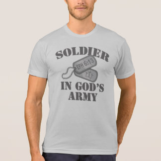 Soldier in God's Army Dogtags T-Shirt