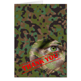 Soldier Joe GI Camouflage Party Note Card