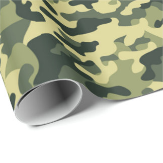 Soldier Joe GI Camouflage Party Wrapping Paper