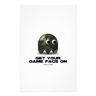 Soldier (Military Camouflage Retro Avatar) Custom Stationery