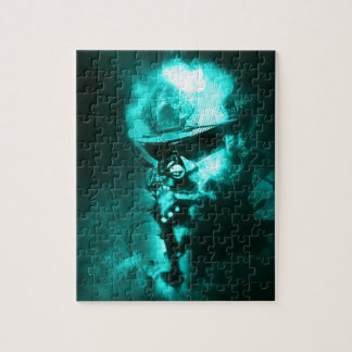 soldier neon jigsaw puzzle