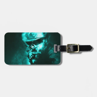 soldier neon luggage tag
