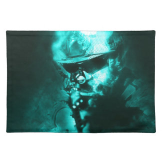 soldier neon placemat