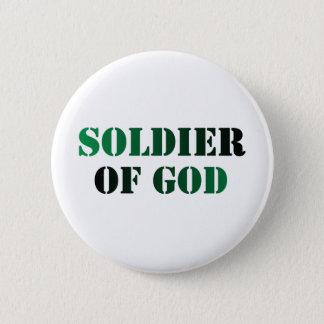 Soldier of God vert & noir 2 Inch Round Button
