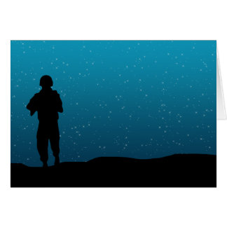 Soldier s Stary Night Greeting Card
