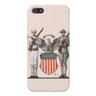 Soldier, Sailor and U.S. Shield iPhone 5/5S Cases