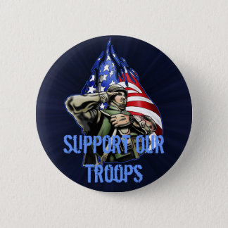 Soldier Salute Design 2 Inch Round Button
