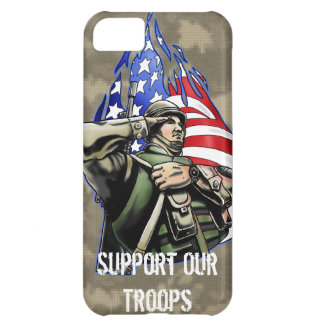Soldier Salute design Cover For iPhone 5C