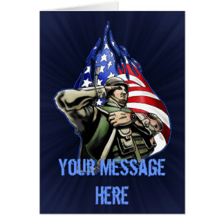 Soldier Salute Design Greeting Card