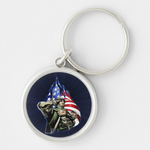 Soldier Salute Design Key Chains
