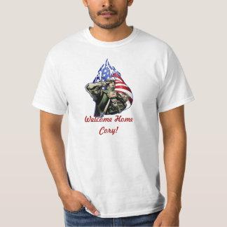 Soldier Salute Design Tee Shirt