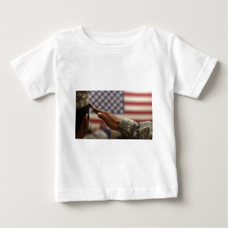 Soldier Salutes The United States Flag Baby T-Shirt