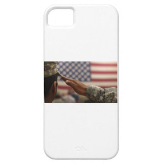 Soldier Salutes The United States Flag iPhone 5 Case