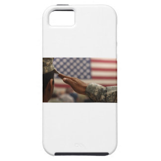 Soldier Salutes The United States Flag iPhone 5 Covers