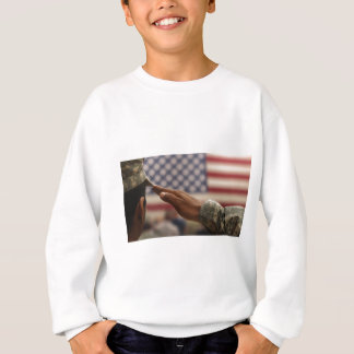 Soldier Salutes The United States Flag Sweatshirt