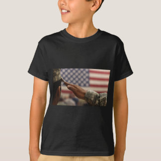 Soldier Salutes The United States Flag T-Shirt