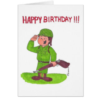 SOLDIER SALUTING CARD