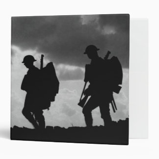 Soldier Silhouettes - Battle Of Broodseinde 3 Ring Binders