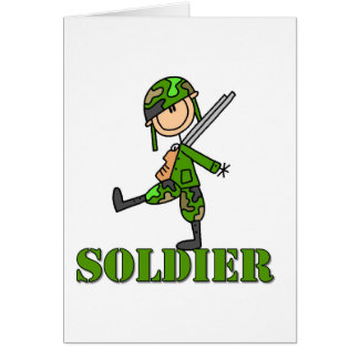 Soldier Stick Figure Card