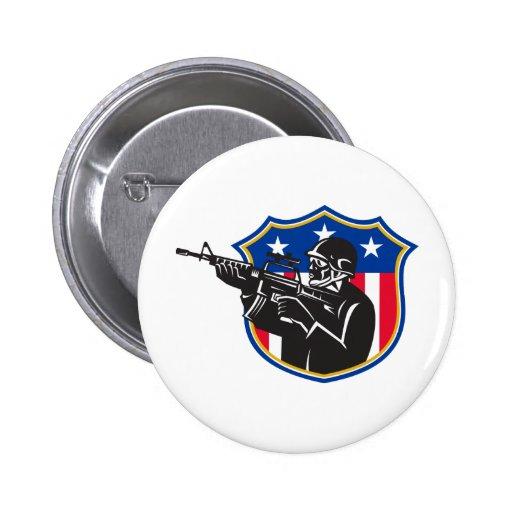 soldier swat policeman rifle shield pin